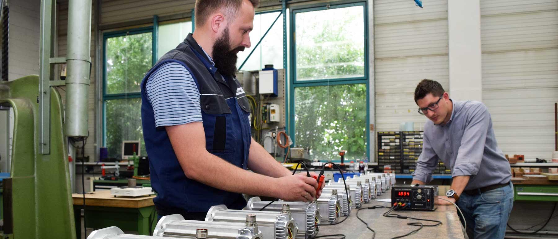 Reparaturservice für Servomotoren undScheibenläufermotoren